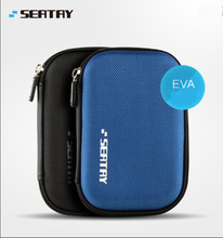 New Hand Carry  2.5 Inch HDD Bag Safety Disque Dur Case For Exterior Laborious Drive  Bag Black  And Blue