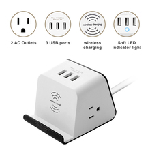 Multi-function Intelligent 3 USB Extension Cable Socket Terminal Board Desktop Wireless Charging Portable Travel