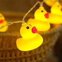 Creative Party Led Light String With Small Yellow Duck Hanging Battery Operated Halloween Christmas DIY Party