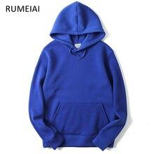 RUMEIAI 2017 New brand Hoodie Streetwear Hip Hop red Black gray pink Hooded Hoody Mens Hoodies and Sweatshirts Size M-XXL