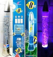 28 Cambia Color Burbuja Acuario LED Novedad de La Lámpara de Peces de Agua Luces de estado de Ánimo de Acrílico Decoración Del Hogar 2017 Envío Gratis Venda Caliente