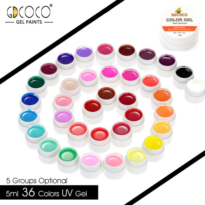 GDCOCO Gel Varnish DIY kit 5ml Soak Off UV Pure Gel Canni Wholesale Gel varnish Painting gel