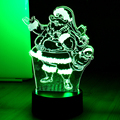 7 Color Xmas Santa Claus Lamp 3D Visual Led Night Lights for Kids Touch USB Table Lampara  Lampe Baby Sleeping Nightlight