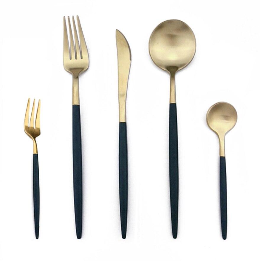 Set de couverts 32 pièces couteau fourchette cuillère cuillère à café table à manger ustensiles de cuisine