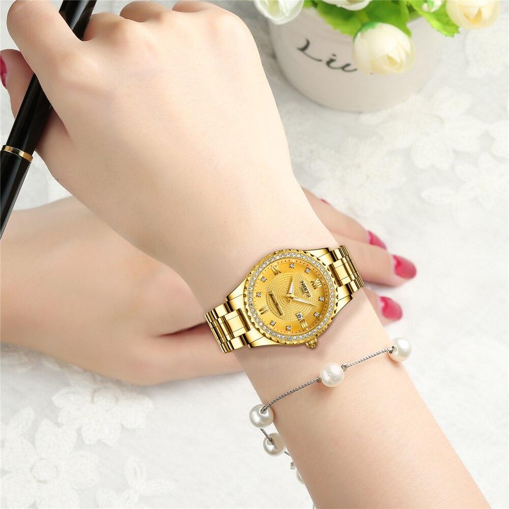 NIBOSI Lovers Watch Men Women Watches Relogio Feminino Top Brand Luxury Women Watch Gold Gift Unique Quartz Dress Wristwatch