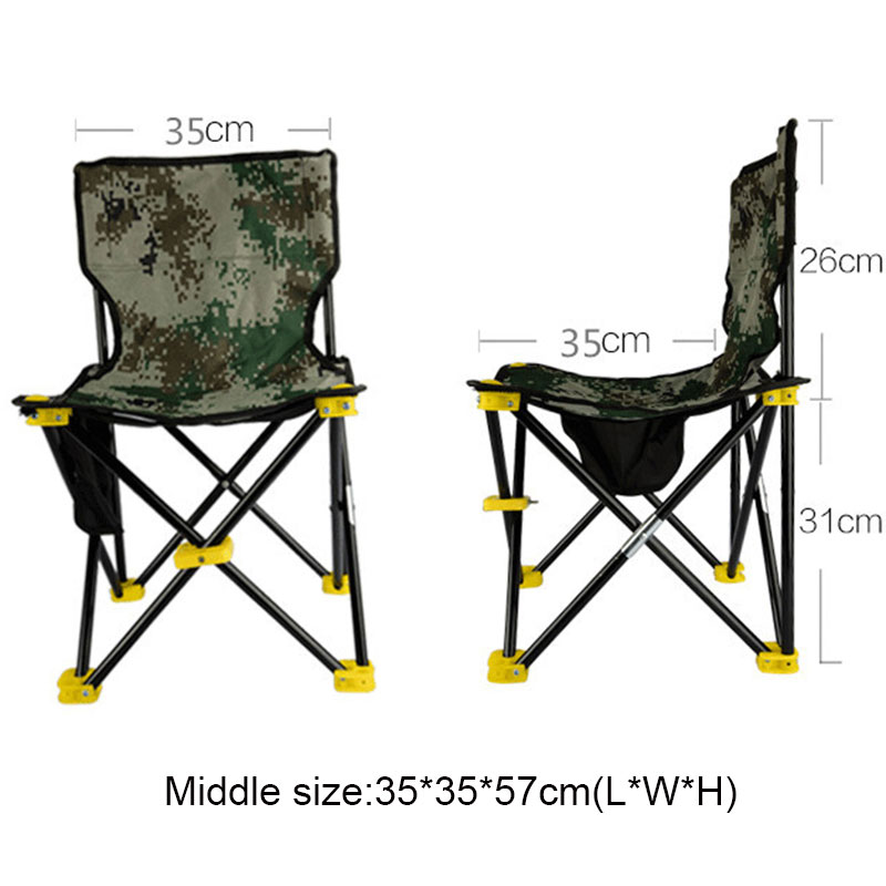 Lightweight Outdoor Fishing Chair Portable Folding Seat Camping Oxford Cloth Foldable Picnic Fishing Beach Chair with Bag