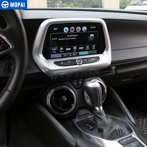 Image 4 - MOPAI Car Interior Navigation Screen GPS Panel Decoration Frame Cover Sticker for Chevrolet Camaro 2017 Up Accessories Styling