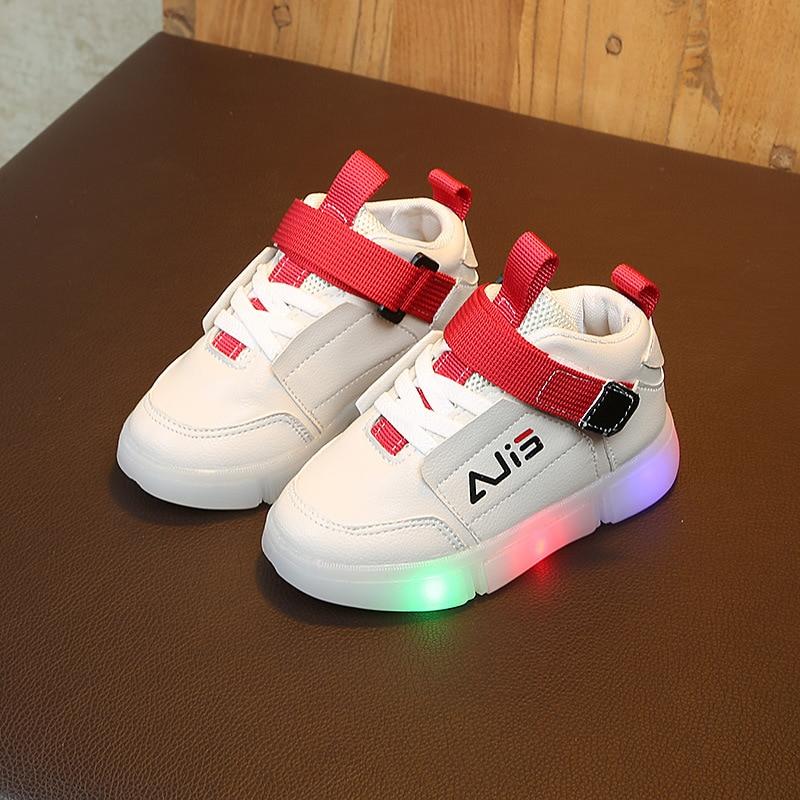 E CN LED kids shoes for girls boys