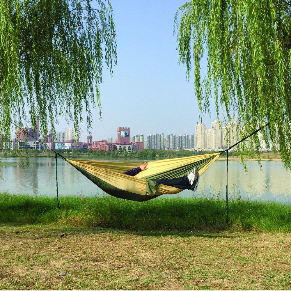 Image 5 - Dropshipping Parachute Nylon Hammock,Outdoor Camping Hammocks Double Person Portable Swing Hammock-in Hammocks from Furniture