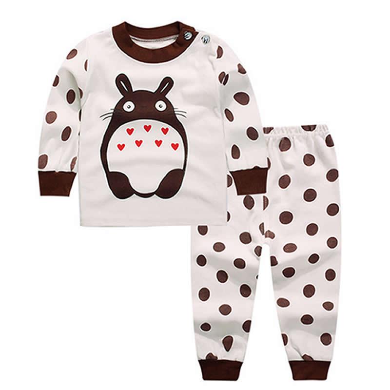 Baby Boy Clothes Newborn Cotton100% Baby Set 2017new fashion Totoro babykleding Aanimal Print Cartoon Baby Girls Sets