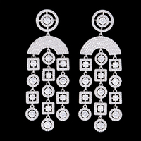 missvikki Geometric Earrings For Ladies Gifts charms silver 925 original boucle d'oreille femme 2019 Jewelry Top Quality CZ