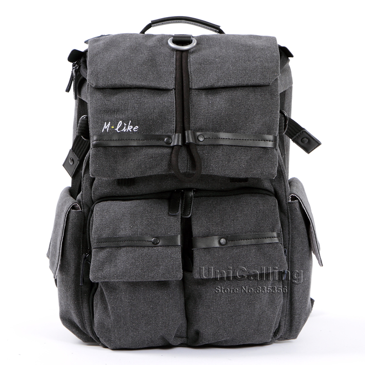 ФОТО Fashion canvas brand high-end quality camera bag for SLR outside camera backpack travel bags camera & laptop multifunctional bag