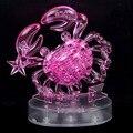 СВЕТОДИОДНАЯ Вспышка Рака Рак 3D Кристалл Головоломка DIY Взрослых Головоломка Головоломки Украшения Творческий Новый Год Подарок Игрушки Для Детей
