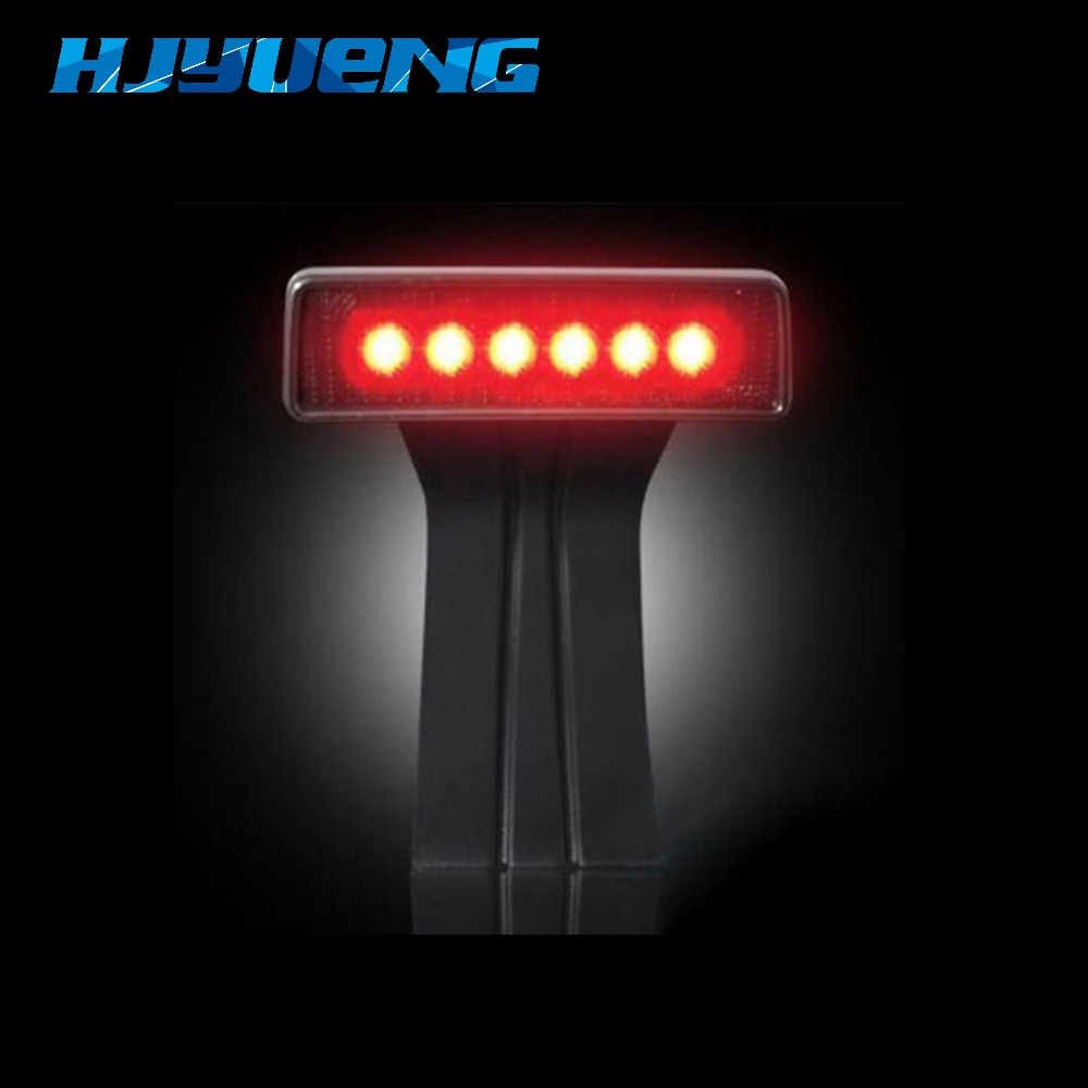 HJYUENG 15W Black 6 LED Rear Tail 3rd Led Brake Light Third Brake Lamp Red For Jeep Wrangler JK Sport Altitude Unlimited car taillight spare tire led third brake light spare tire cover red warning light for jeep wrangler jk accessories 2007 2017