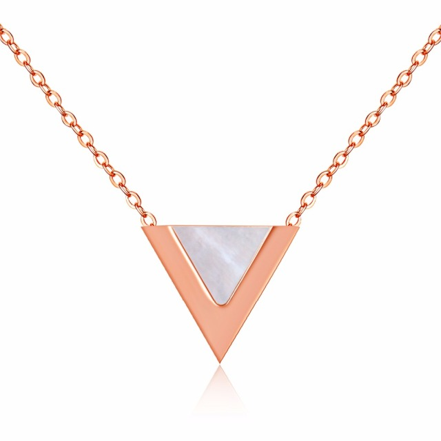 2018 New Fashion Designer Triangle Charm Jewelry Rose Gold Color