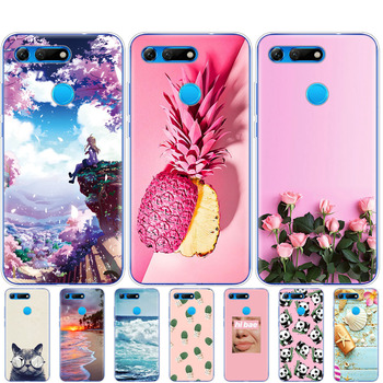 For Huawei Honor View 20 V20 Case TPU Fundas Soft Silicone Phone Cover For Honor V20 Capa Cloudy pattern Silicone Coque bumper image