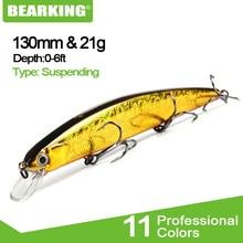 BEARKING для искусственных рыболовных приманок гольян качество воблеры приманки 13 см 21 г suspending горячая модель воблеры Поппер