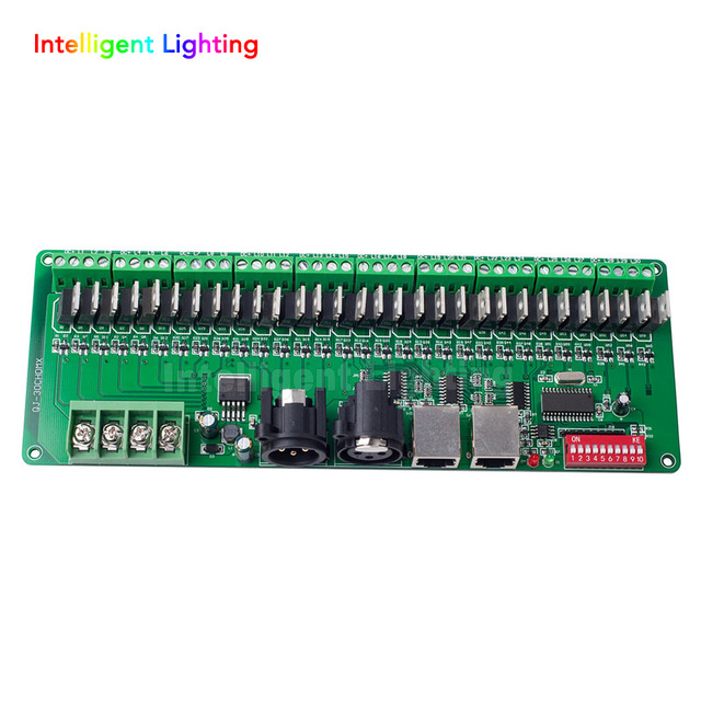 30CH DMX PWM decoder, controller, DC9V 24V input easy setting RGB controller