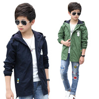 Teenage Boys Jackets Spring Autumn Hooded Coats For Boys Clothing Children Outerwear Kids Tops Boys Outdoor