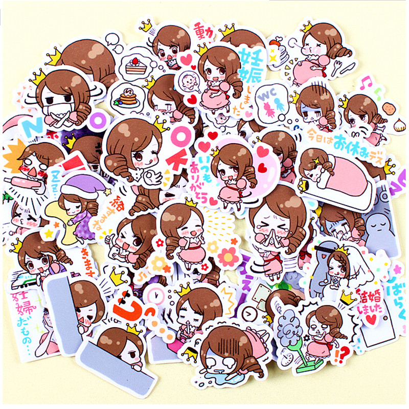40pcs Creative Cute Self-made Cute Pregnancy Mother / Woman Scrapbooking Stickers /decorative Sticker /DIY Craft Photo Albums