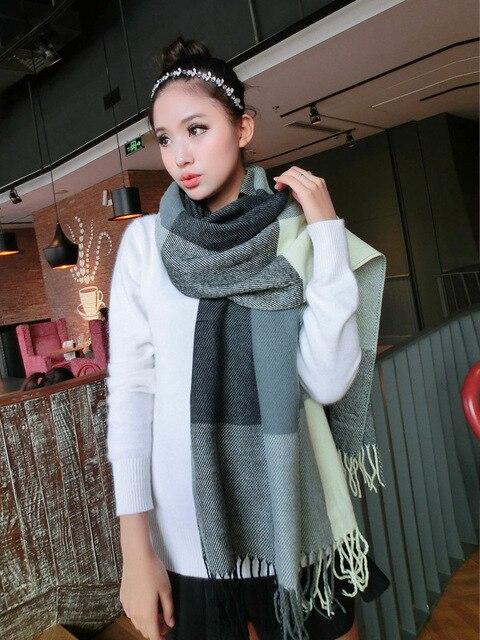 Новая распродажа осень-зима теплый шарф женщин украл плед шарфы палантин обертывания Брендовые женские Классический шейный платок шаль