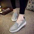 2016 весна и лето плоские мокасины ленивый обувь блестками толстым дном размер 36 - 40 B023