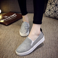 2016 spring and summer shoes flat loafers lazy shoes sequined thick bottom shoes size 36-40 B023