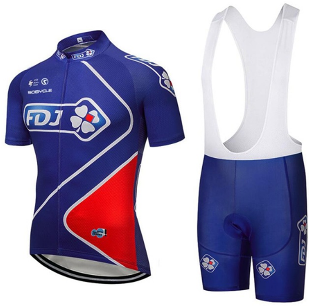 2018 new Pro team groupama FDJ cycling jerseys Bicycle maillot breathable Ropa Ciclismo MTB Short sleeve bike cloth 9D GEL цена