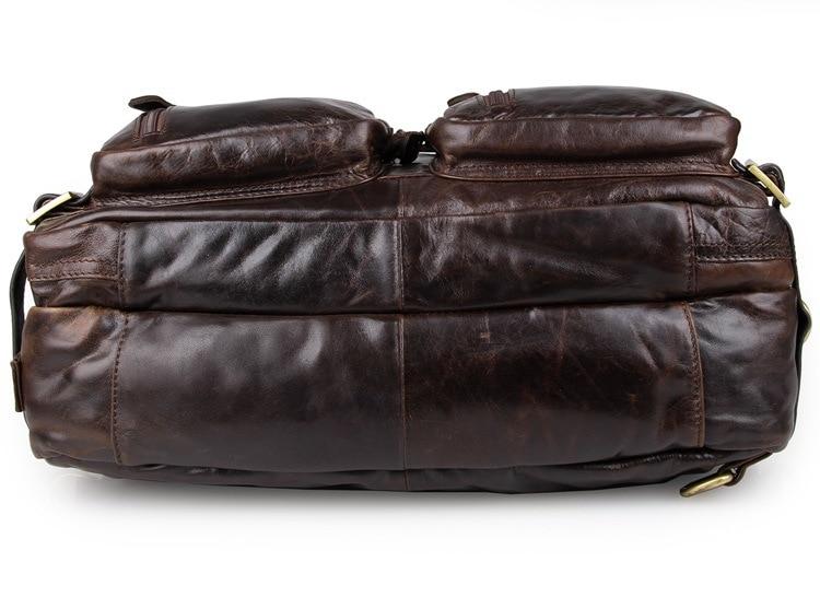 "Men's Briefcase Tote Handbag Genuine Leather 15"" Travel Laptop Business Large Capacity Douments Shoulder Briefcases Bags Male"
