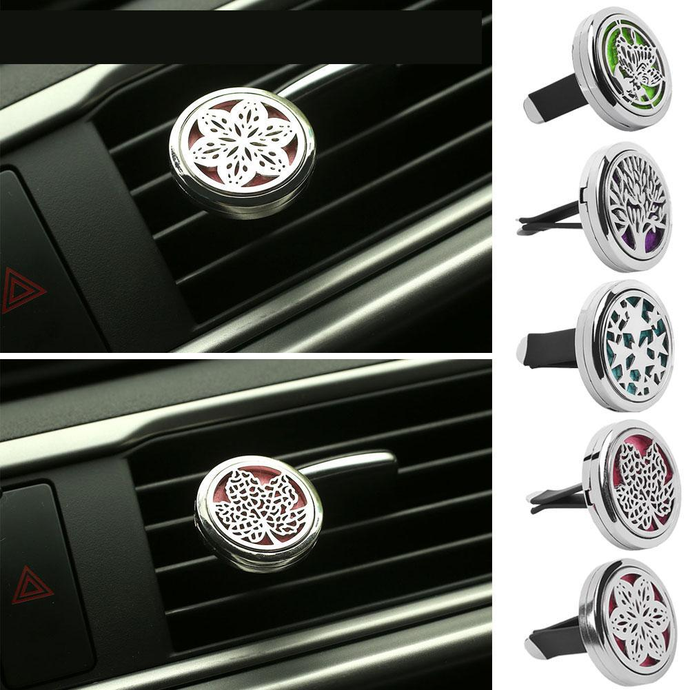 Dedicated Car Truck Vent Clip Air Freshener Purifier Perfume Fragrance Essential Oil Aroma Diffuser Gift Stainless Steel Car-stying Exquisite Workmanship In