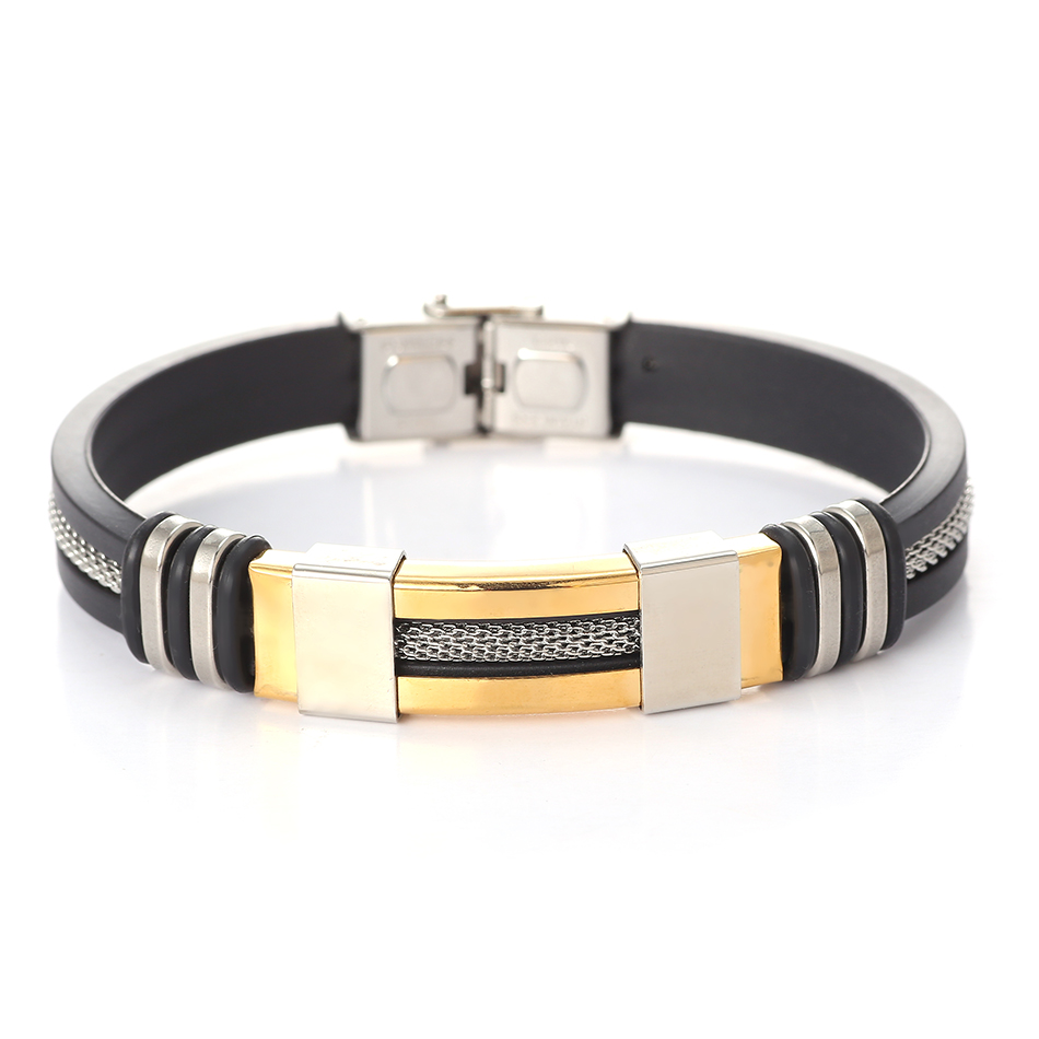 Stainless Steel Bracelet Charms: Leather Metal Cuff Stainless Steel Bracelets For Men