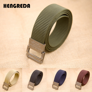 Nylon Tactical Belt 2019 Men Army Waist Belts Travel Ladies Double Ring Metal Buckle Hengreda for Cowboy Jeans Pants(China)