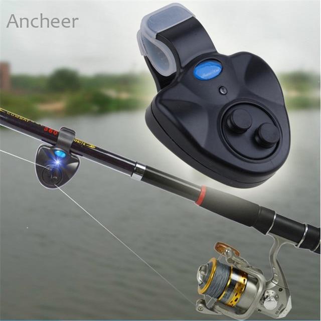 New Fishing Alarm Outdoor LED Clip Light Fishing Rod Electronic Bite Alarm Fish Ringer Battery Electronic Bite Alarm Fish Ringer
