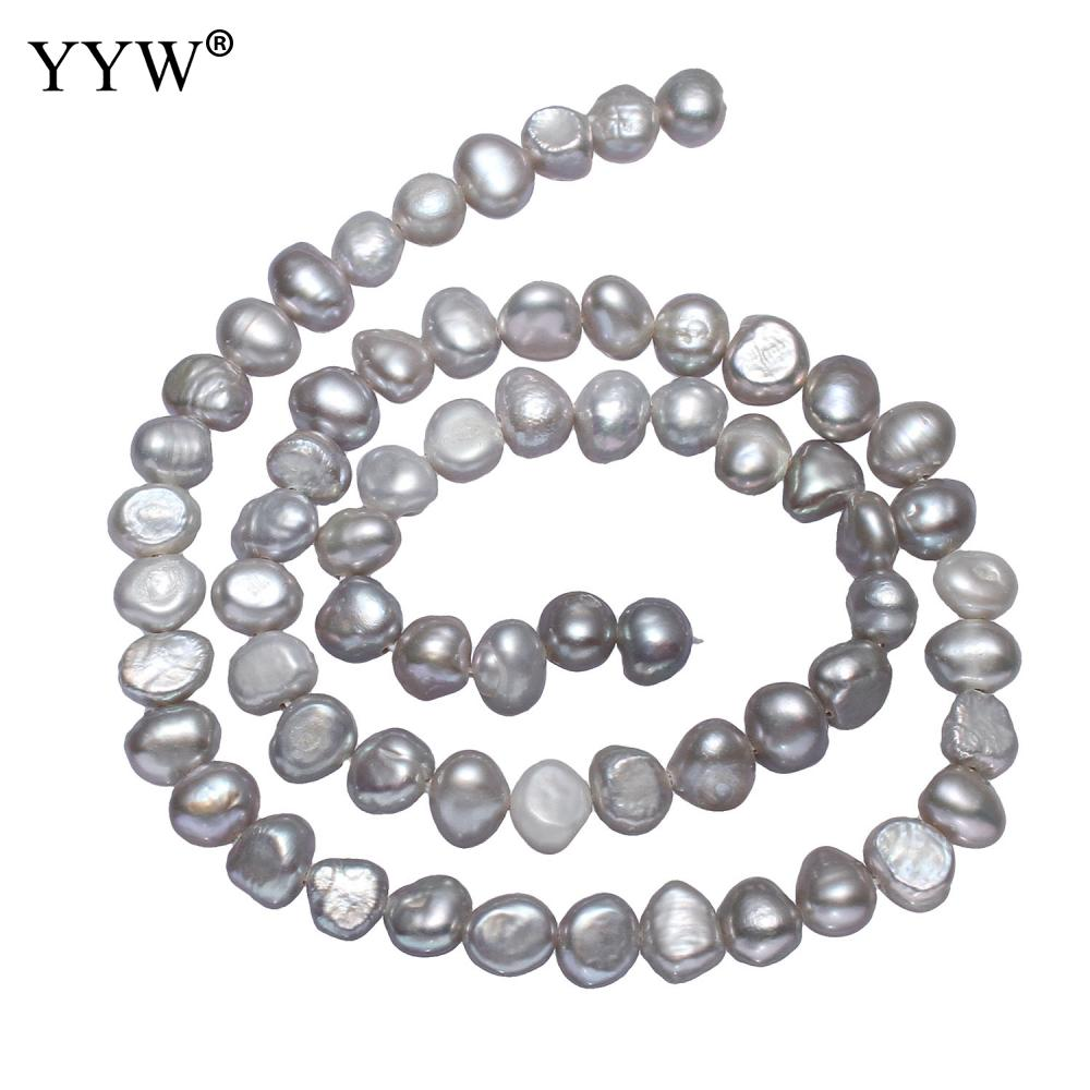 Cultured Potato Freshwater Pearl Beads grey 5-6mm Approx 0.8mm Sold Per Approx 14.5 Inch Strand