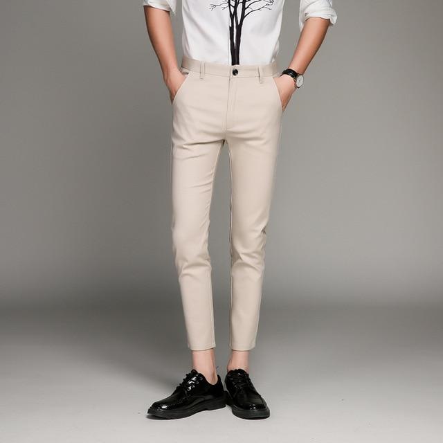 5 Color Slim Soft Stretch Casual Pants  5