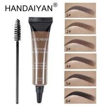HANDAIYAN New Professional Eyebrow Gel Kits Waterproof Makeup 6 Colors with Brow Enhancers Brush Tools