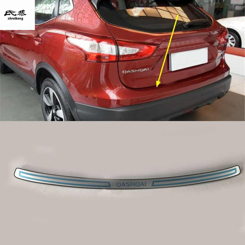 Free shipping for 2016 2017 Nissan Qashqai J11 Stainless Steel back rear trunk Sill Scuff Plate Protection pedal