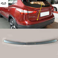 Free shipping 1PC for 2016 2017 Nissan Qashqai J11 Stainless Steel back rear trunk Sill Scuff Plate Protection pedal