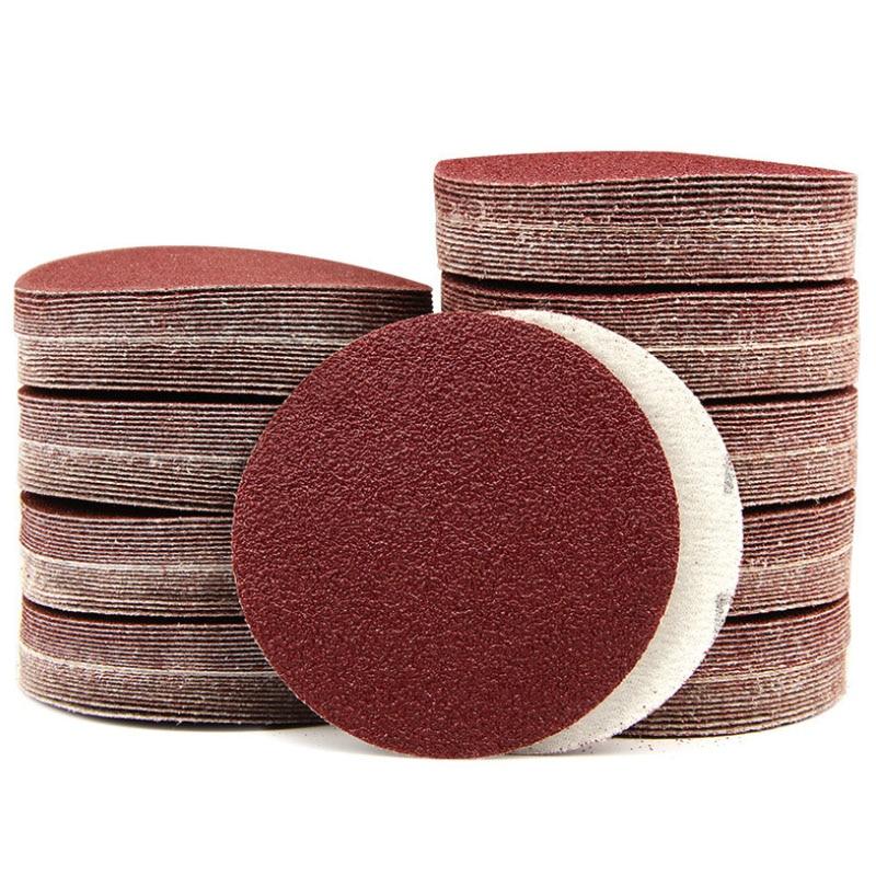 6-Inch/150mm Sanding Disc 40-2000 Grits Aluminum Oxide Flocking Back Sandpapers For Sanders 100 Pcs