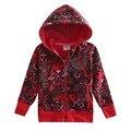 Красный розовый дети толстовки детская одежда куртка молнии новый год Кофты для девочек-подростков детские спортивные костюмы дети одежда из хлопка