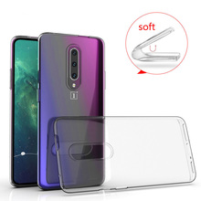 HereCase 2019 Transparent TPU for OnePlus 7 / 7 Pro Case Cover Ultrathin Soft Silicone Edge Protective Back Cover For One Plus 7
