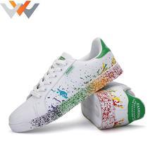 2016 Rainbow Breathable Skate Shoes Tenis Feminino Trainers Zapatos Hombre Men Casual Shoes Platforms Discolor Color Man Smiths