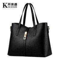 KLY 100% 本革の女性のハンドバッグ 2019 新しい段落潮 MS 女性バッグビッグバッグシンプルなショルダーバッグハンドバッグメッセンジャー