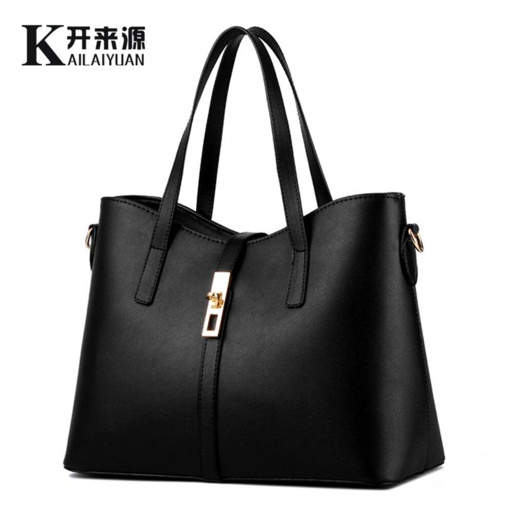 KLY 100% en cuir véritable femmes sacs à main 2019 nouveau paragraphe marée Ms femme sac grand sac simple sac à bandoulière sac à main Messenger