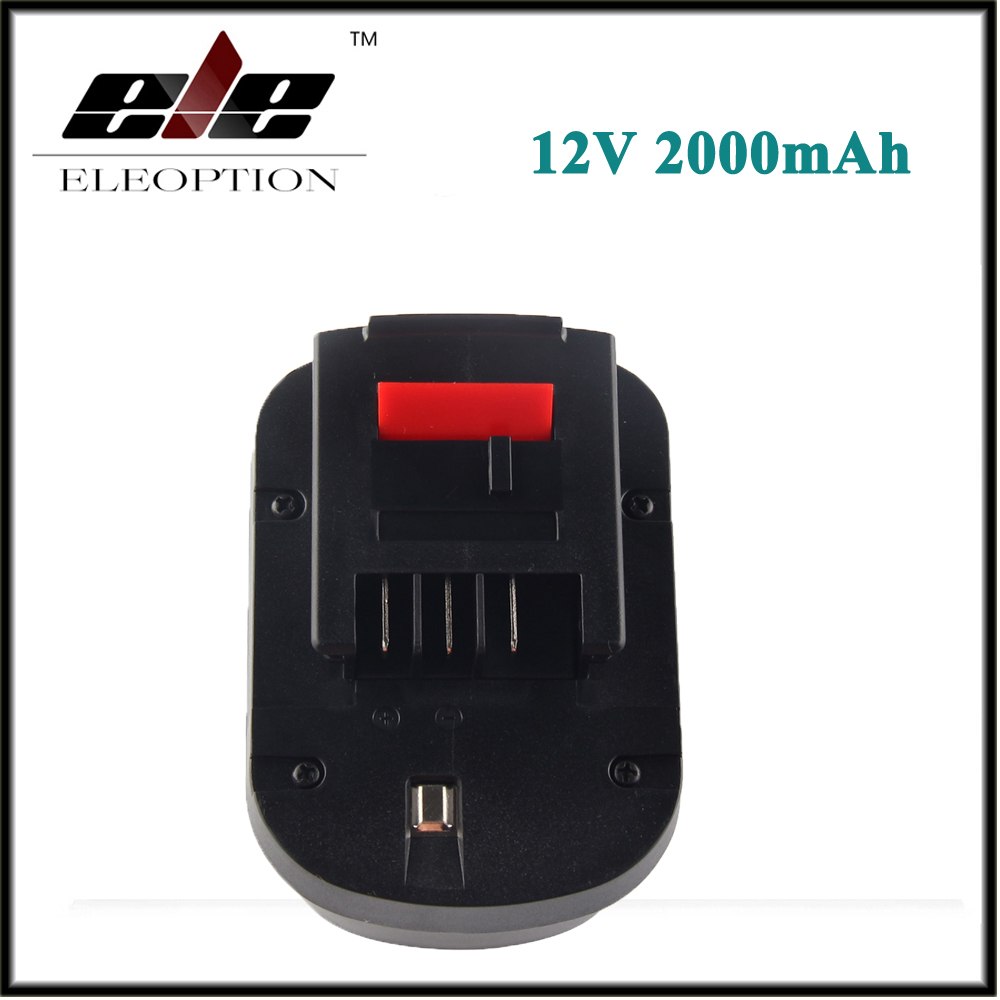 12V 2000mAh Ni-CD Battery For Black & Decker FSB12 BD1204L BD-1204L B-8315 BPT1047 A12 HPB12 A12-XJ A12EX A1712 FS120B FS120BX