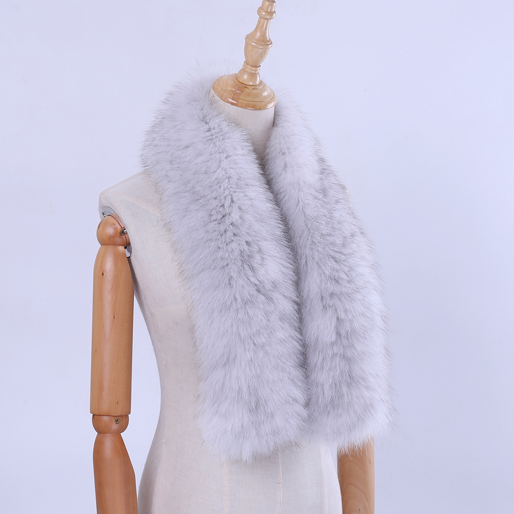Brand New 2019 Winter New Arrival Women's Men's Genuine Fox Fur Hand Knitted Long Warm Fashion Scarf Scarves Wraps Mufflers