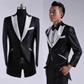2015new chegada S-2XL frete grátis terno masculino Coreano moda Slim fit Mens ternos de vestido de casamento vestido de smoking para os homens negros