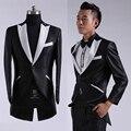 S-2XL бесплатная доставка терно masculino 2015new прибытие Корейской моды Slim fit Мужские костюмы платья свадебное платье смокинги для мужчин черный