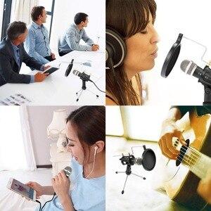 Image 5 - Microfone do telefone móvel microfone do condensador da gravação de lefon microfone para computador pc karaoke microfone titular para android 3.5mm plug