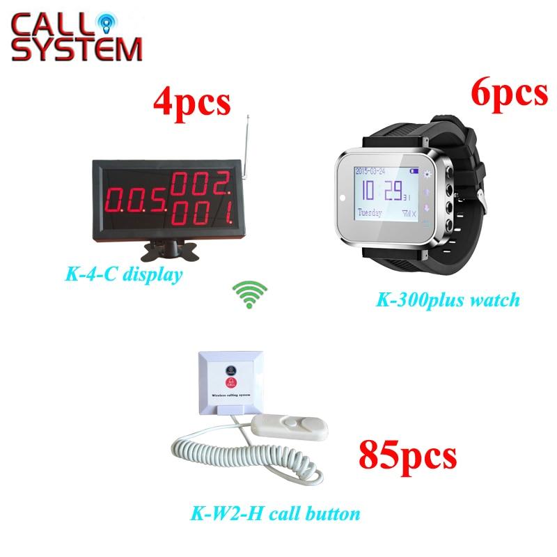 Système de bouton de cordon d'appel de patient d'hôpital avec 4 moniteurs 6 sonnettes de lit de pager de poignet d'infirmière 85
